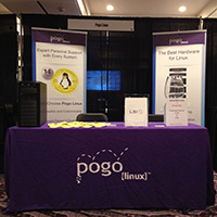Pogo Linux SCaLE 12x LSI Booth
