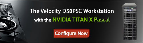 Configure your Velocity D58PSC with the NVIDIA TITAN X Pascal