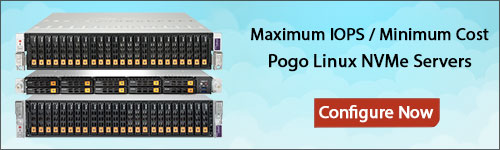 Configure your Pogo Linux NVMe Server