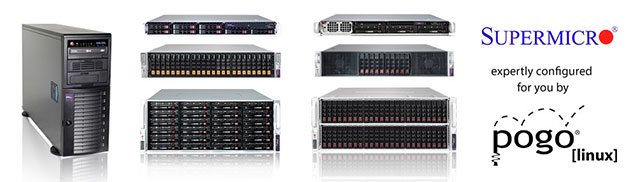 Supermicro systems from Pogo Linux