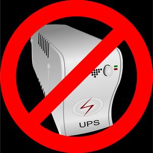 No UPS necessary