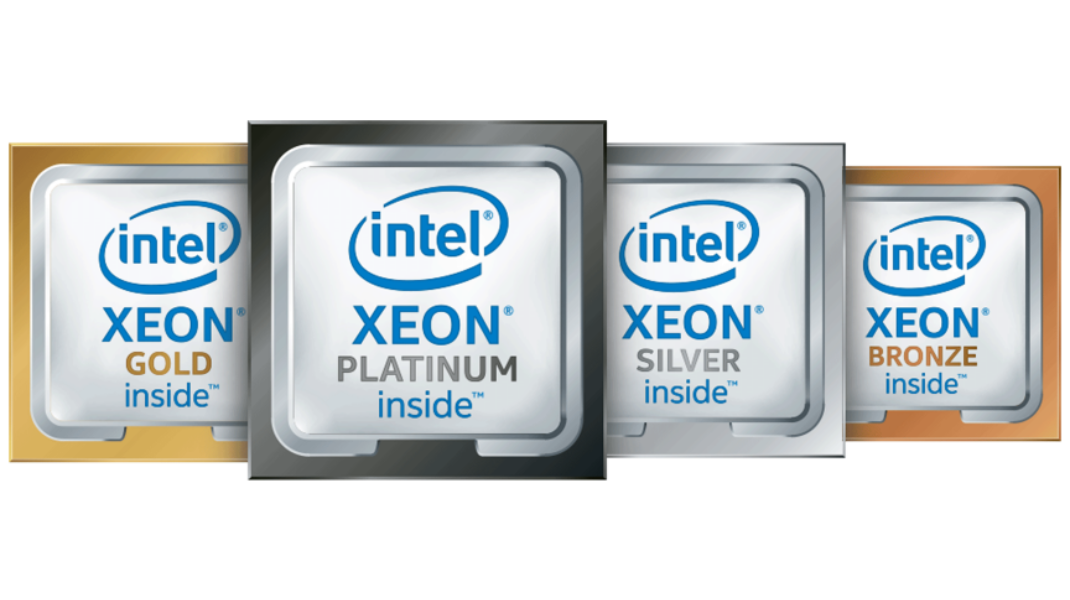 Intel Xeon processors - platinum, gold, silver and bronze
