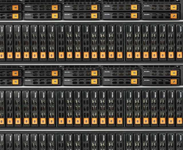 Maximum performance storage featuring ultra fast NVMe drives